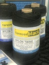 Twisted Tarred Black 1 lb 1-pack Size #18 Nylon Twine