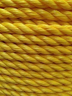 Twisted Polypropylene Rope- Yellow