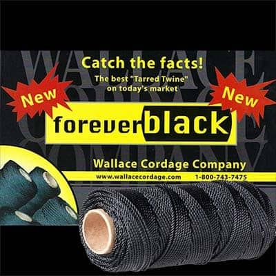 Wallace Cordage Forever Black Tarred Twine